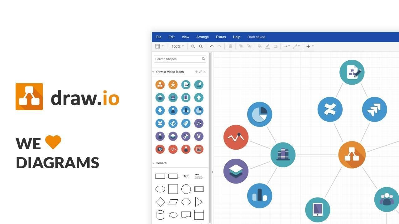 Drawio v13.7.9 开源跨平台流程图软件